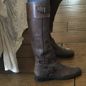 Enzo angiolini knee high leather boots